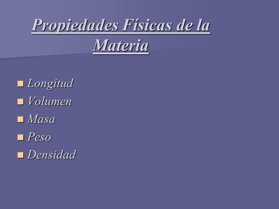 Propiedades Físicas de la Materia