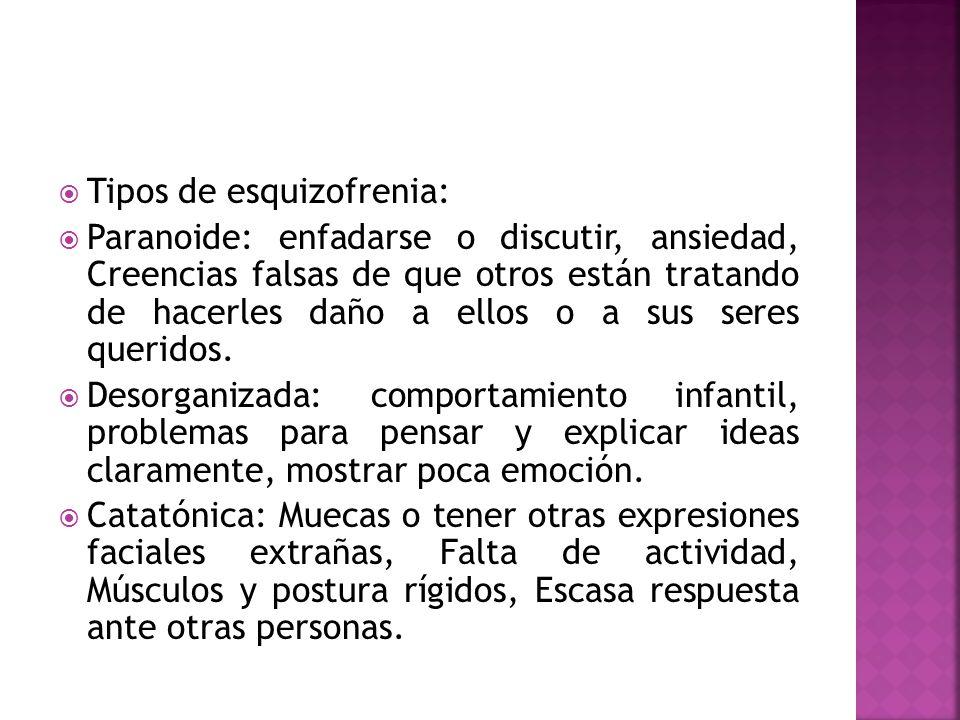 Tipos de esquizofrenia: