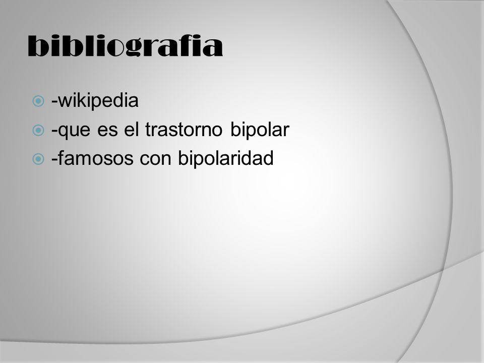 bibliografia -wikipedia -que es el trastorno bipolar
