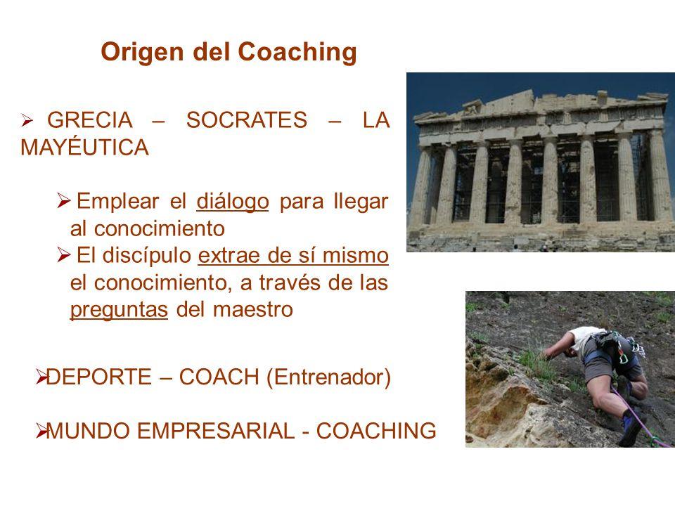 Origen del Coaching Emplear el diálogo para llegar al conocimiento