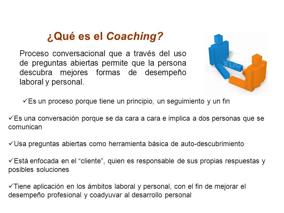 ¿Qué es el Coaching