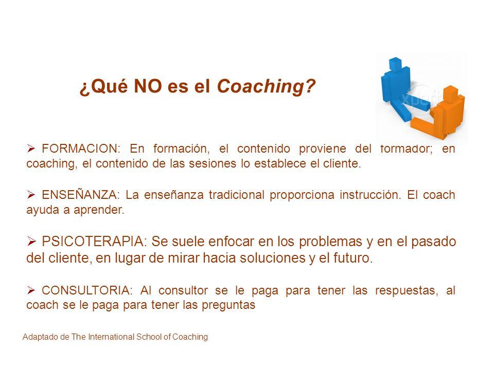 ¿Qué NO es el Coaching
