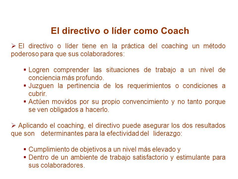 El directivo o líder como Coach