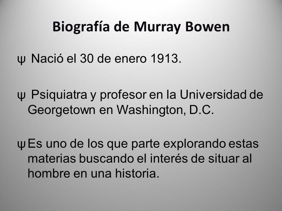 Biografía de Murray Bowen
