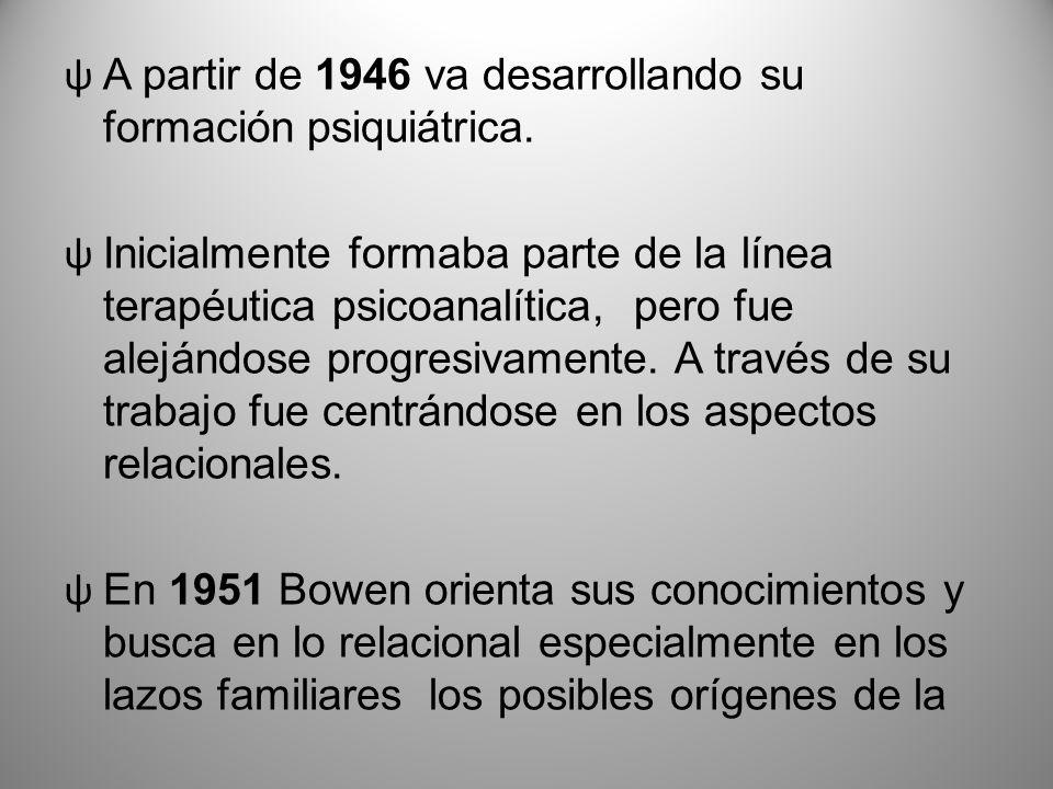 A partir de 1946 va desarrollando su formación psiquiátrica.