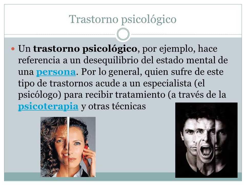 Trastorno psicológico