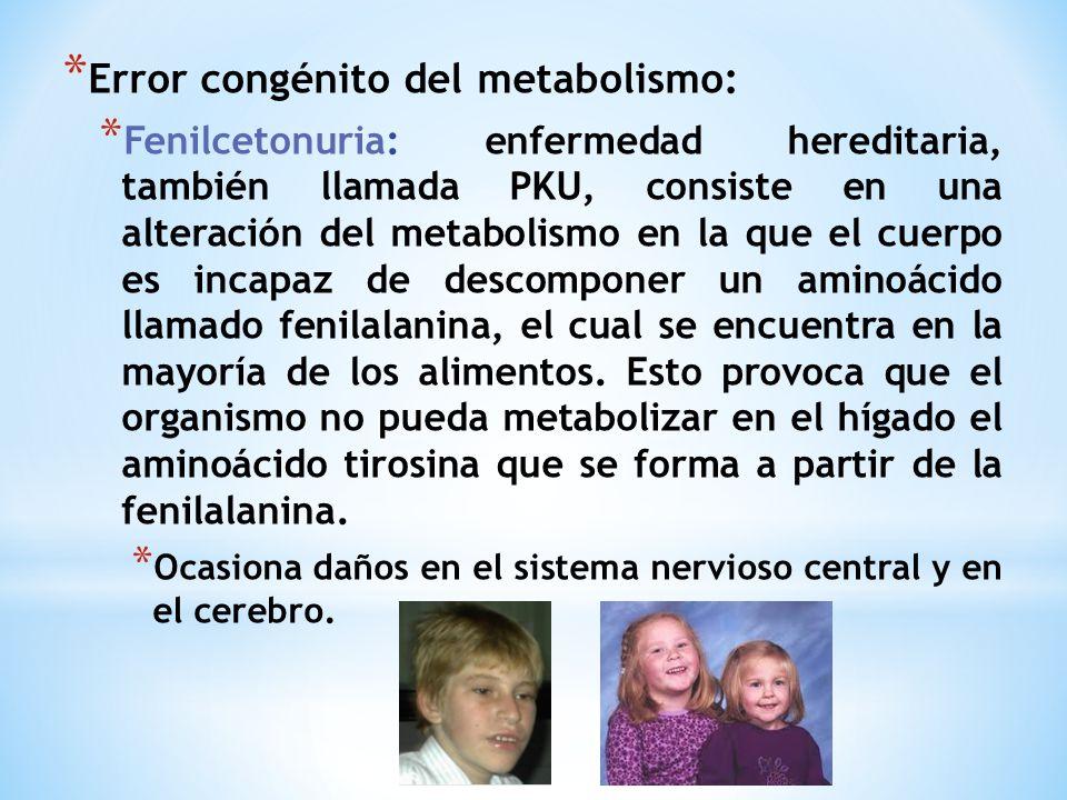 Error congénito del metabolismo: