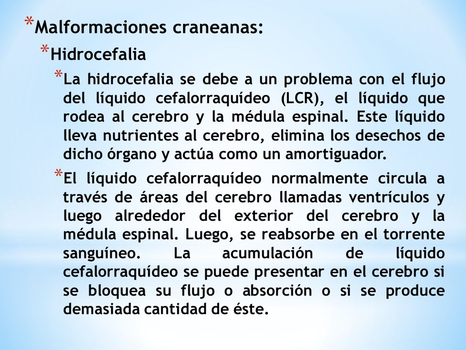 Malformaciones craneanas: