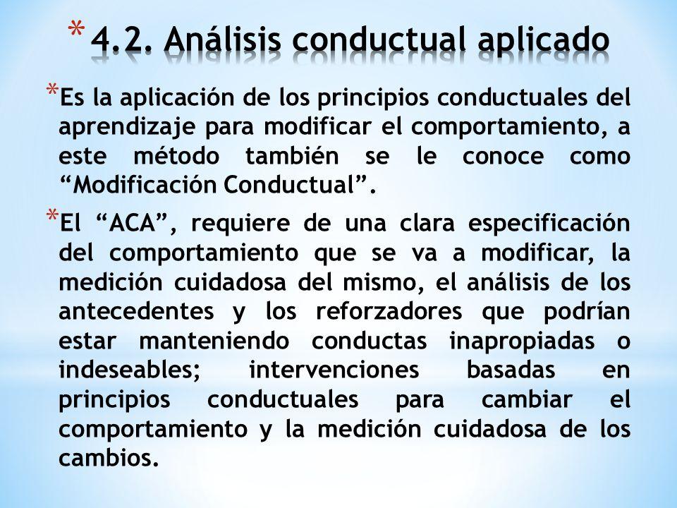 4.2. Análisis conductual aplicado