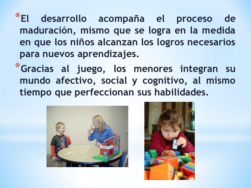 El desarrollo acompaña el proceso de maduración, mismo que se logra en la medida en que los niños alcanzan los logros necesarios para nuevos aprendizajes.