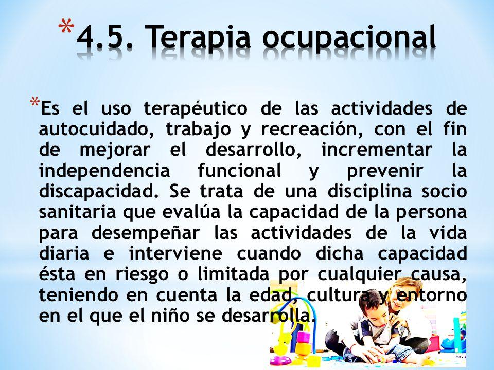 4.5. Terapia ocupacional