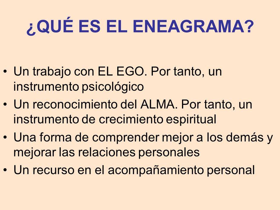 ¿QUÉ ES EL ENEAGRAMA Un trabajo con EL EGO. Por tanto, un instrumento psicológico.