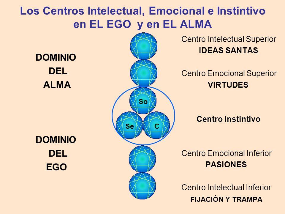 Los Centros Intelectual, Emocional e Instintivo en EL EGO y en EL ALMA