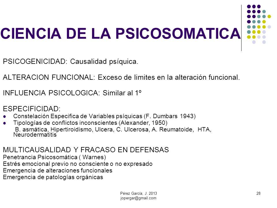 CIENCIA DE LA PSICOSOMATICA