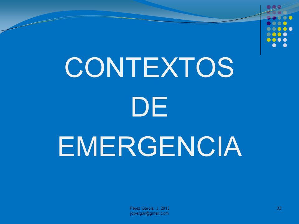 CONTEXTOS DE EMERGENCIA