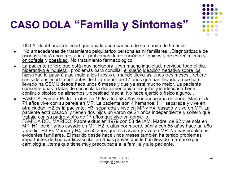 CASO DOLA Familia y Síntomas