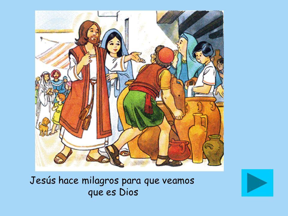 Jesús hace milagros para que veamos