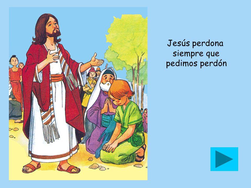 Jesús perdona siempre que pedimos perdón