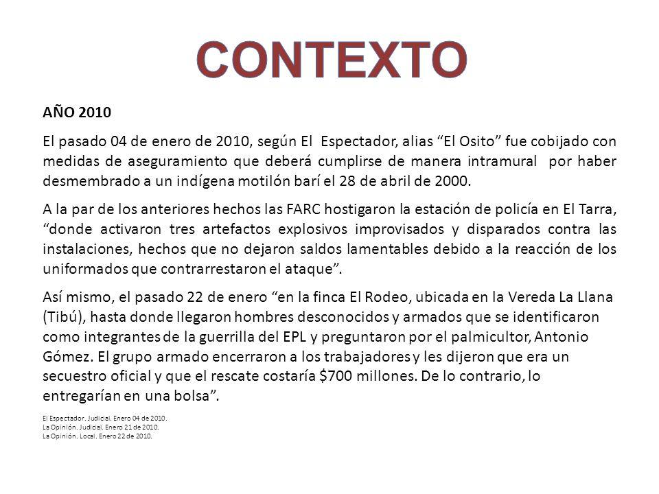 CONTEXTO AÑO 2010.