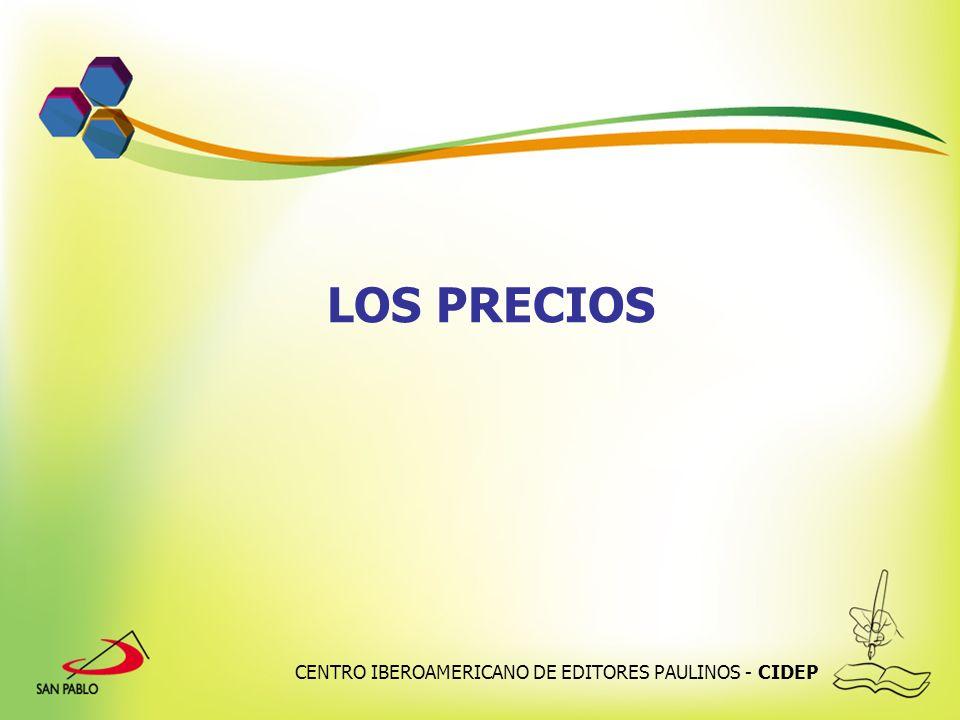 LOS PRECIOS CENTRO IBEROAMERICANO DE EDITORES PAULINOS - CIDEP