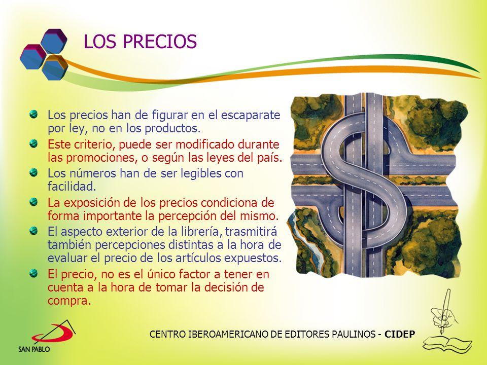 LOS PRECIOS Los precios han de figurar en el escaparate por ley, no en los productos.