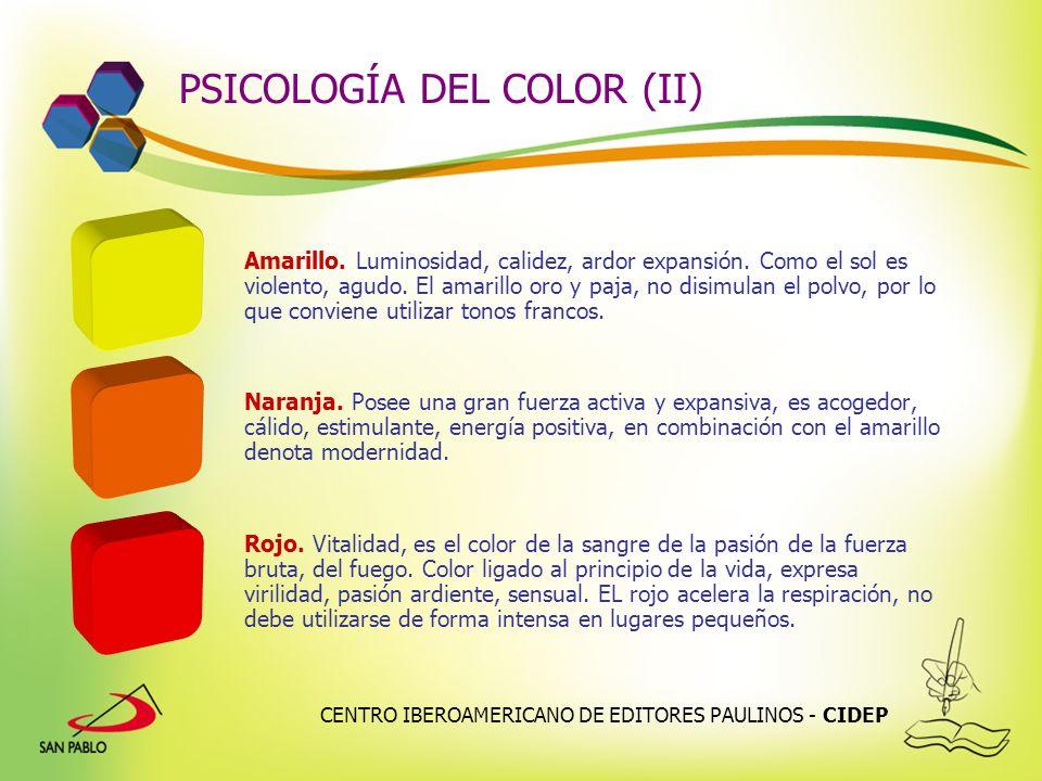 PSICOLOGÍA DEL COLOR (II)