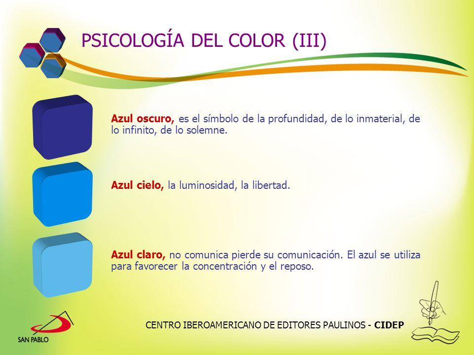 PSICOLOGÍA DEL COLOR (III)