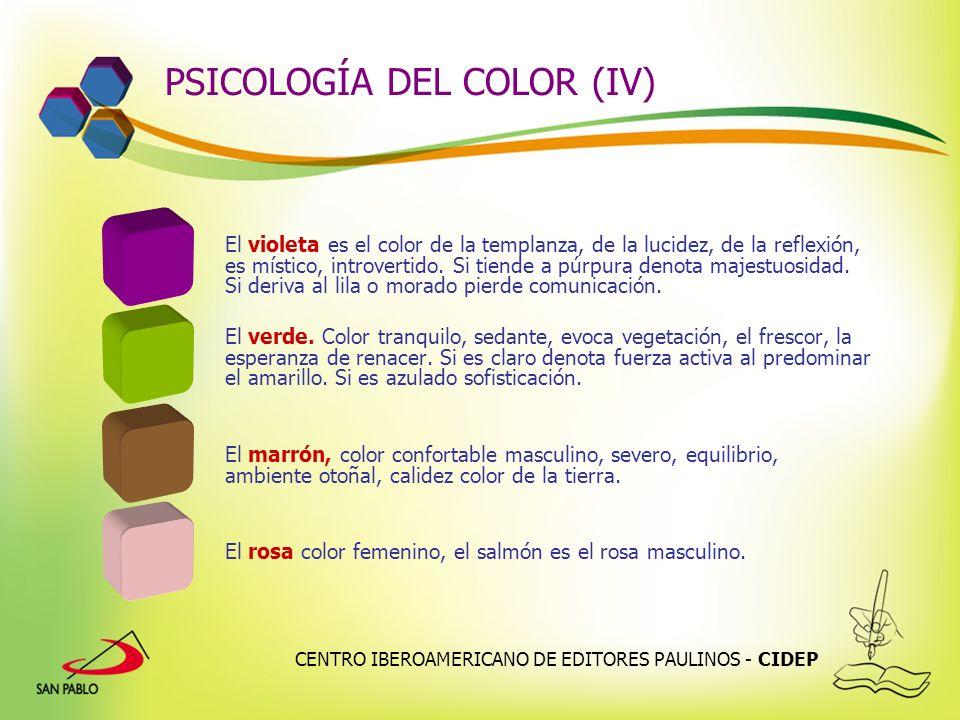 PSICOLOGÍA DEL COLOR (IV)