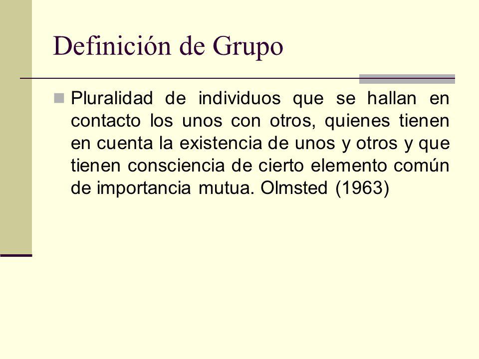 Definición de Grupo