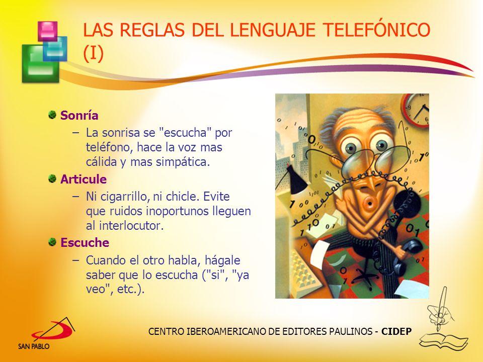 LAS REGLAS DEL LENGUAJE TELEFÓNICO (I)