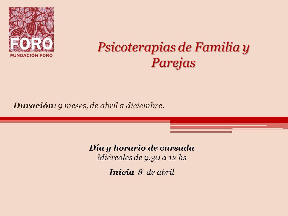 Psicoterapias de Familia y Parejas