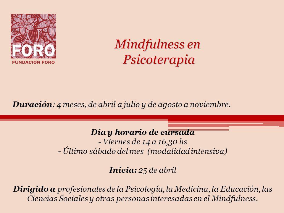 Mindfulness en Psicoterapia