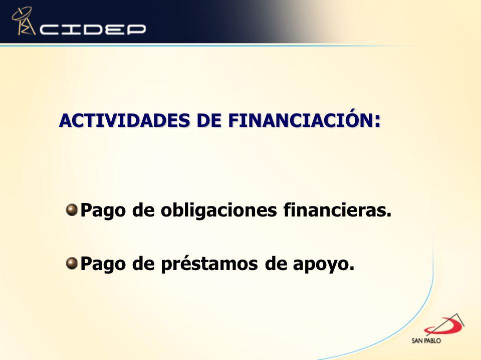 ACTIVIDADES DE FINANCIACIÓN: