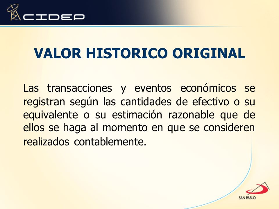 VALOR HISTORICO ORIGINAL