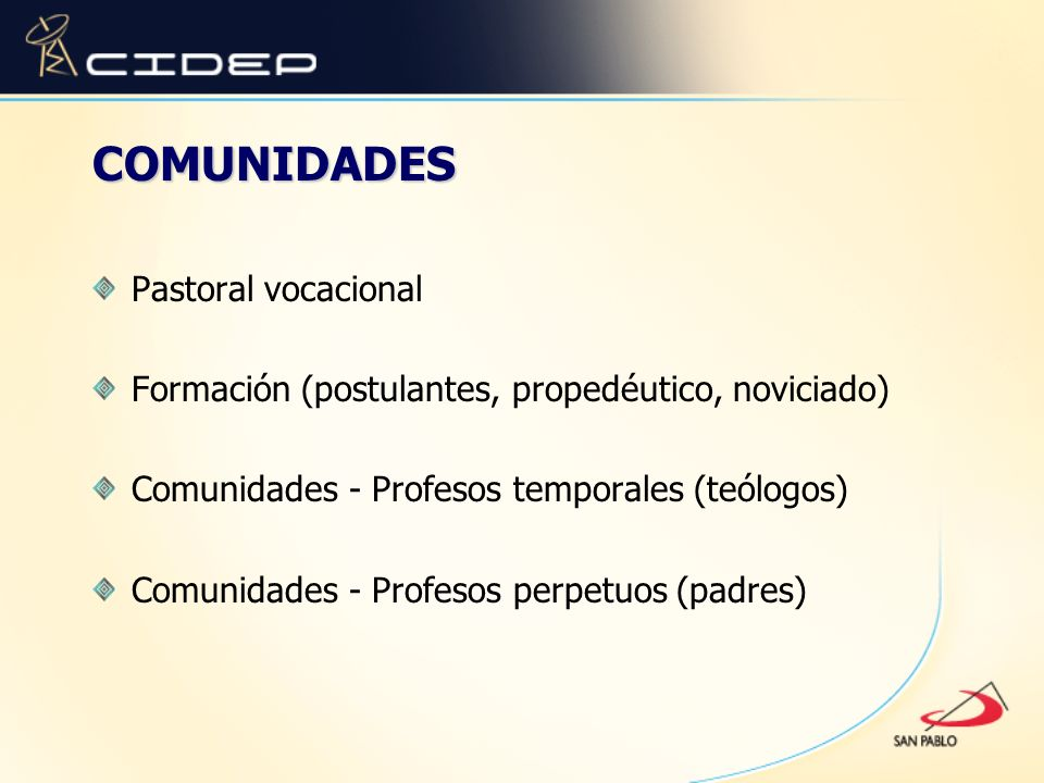 COMUNIDADES Pastoral vocacional