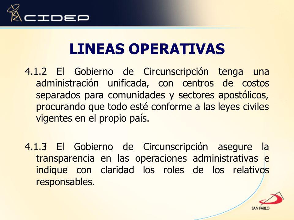 LINEAS OPERATIVAS