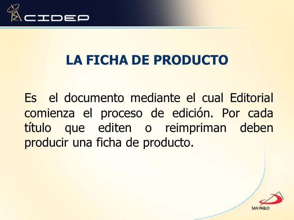 LA FICHA DE PRODUCTO