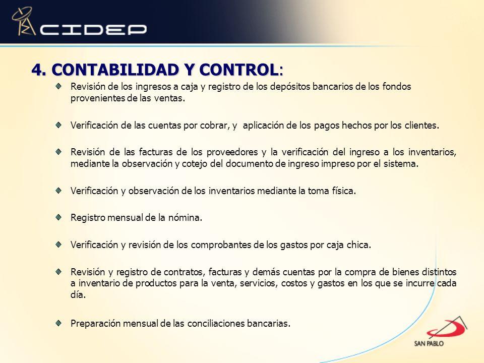 4. CONTABILIDAD Y CONTROL:
