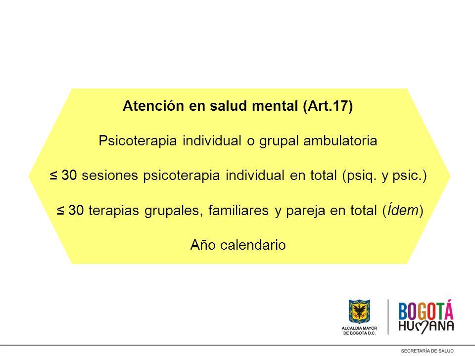 Atención en salud mental (Art