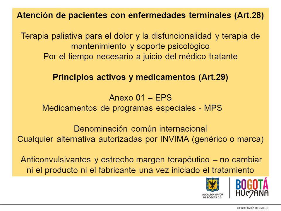 Atención de pacientes con enfermedades terminales (Art