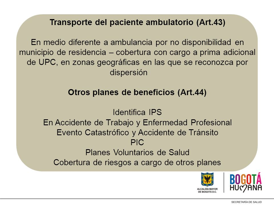 Transporte del paciente ambulatorio (Art