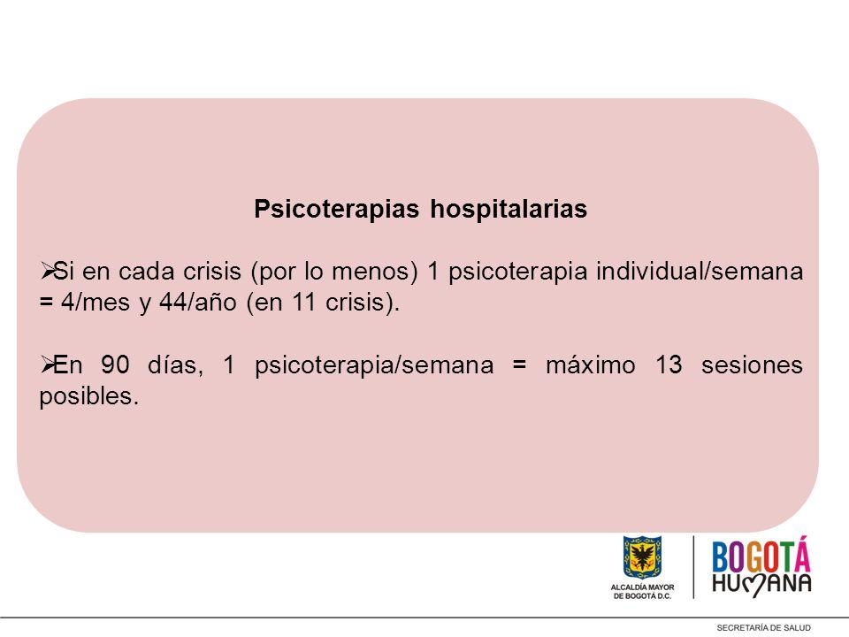 Psicoterapias hospitalarias