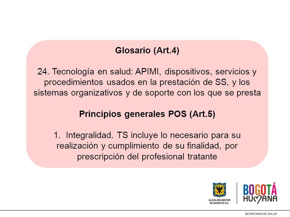 Principios generales POS (Art.5)