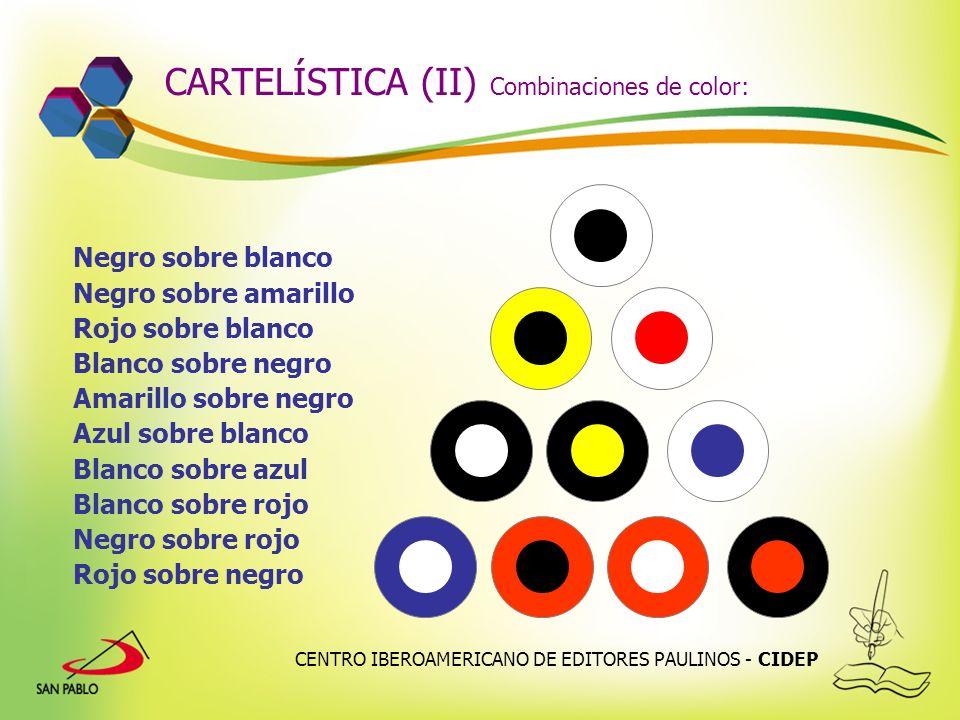 CARTELÍSTICA (II) Combinaciones de color: