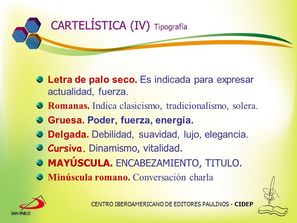 CARTELÍSTICA (IV) Tipografía