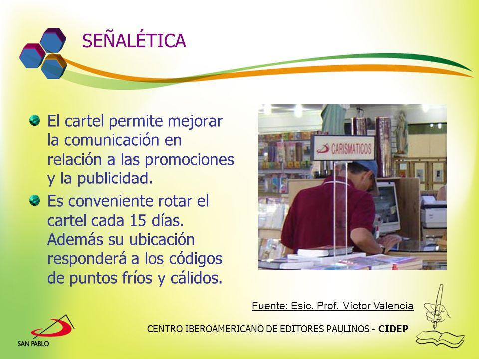 SEÑALÉTICA El cartel permite mejorar la comunicación en relación a las promociones y la publicidad.