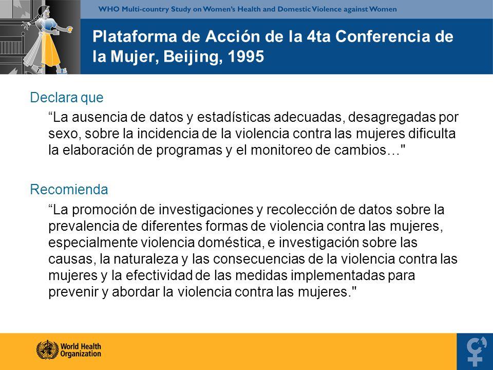 Plataforma de Acción de la 4ta Conferencia de la Mujer, Beijing, 1995