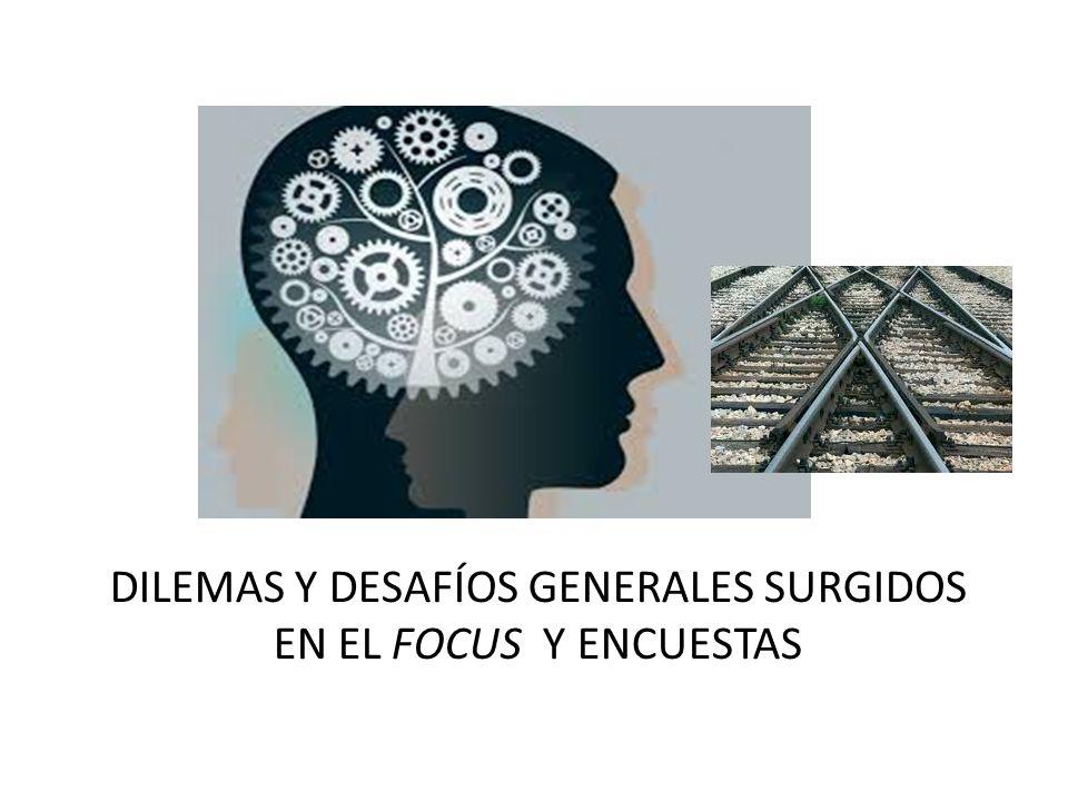 Dilemas y desafíos generales surgidos en el focus y encuestas