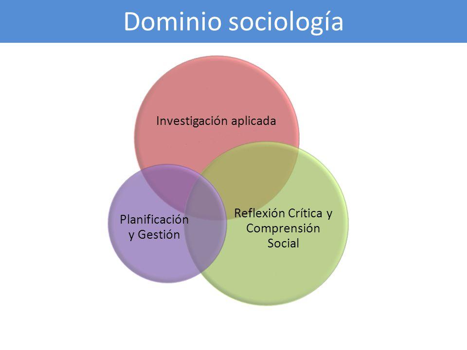 Dominio sociología Investigación aplicada