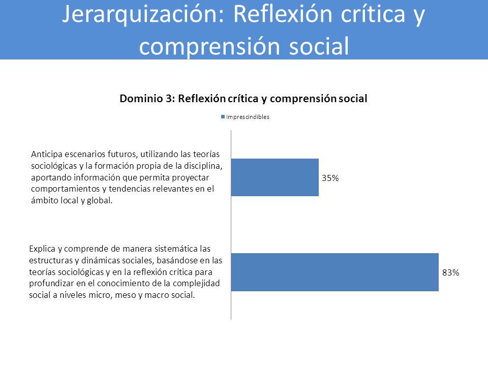 Jerarquización: Reflexión crítica y comprensión social